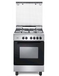 Cucina De Longhi FMX 64 ED FGVX 64  Piano con 4 fuochi a gas Forno elettrico Classe A Acciaio Inox