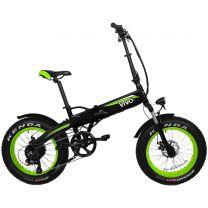 "Bicicletta elettrica VivoBike FAT BIKE VF21 Nero/Verde 25 km/h 20"" 26 Kg"