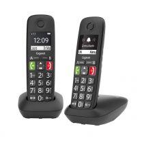 Telefoni Cordless Gigaset E290 Duo D Numeri Grandi Tasti di Chiamata Rapida Vivavoce con Volume Regolabile Nero