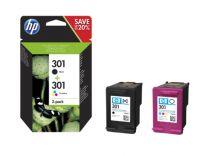 HP 301 2-pack Black/Tri-color Original Ink Cartridges Cartuccia d'inchiostro