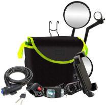 Xtreme, Pack 5 in 1 Accessori Bicicletta Travel Kit per Bike E Kick Scooter 10610 Unisex – Adulto, Nero, XL
