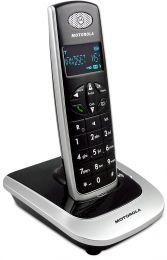 Motorola - Telefono cordless portatile D501 nero/ silver con vivavoce