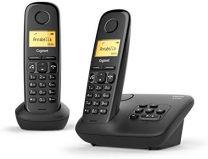 Telefono cordless Gigaset A270 Duo con Vivavoce Ampio Display e Indicazione Data Nero