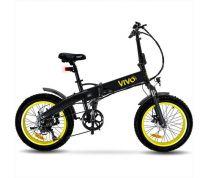 """Vivo Bike VF21 Bicicletta Elettrica 20"""" 250W Nero Giallo"""